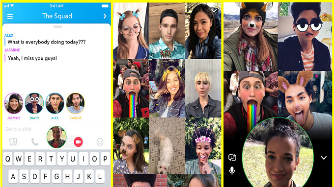 Snapchat adds Group Video Chat and Mentions