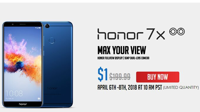 Deal: Honor 7X costs just $1 in the US until April 8 (flash sale)