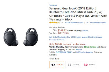 Deal: Samsung Gear IconX (2018) wireless earbuds are 25% off at Amazon