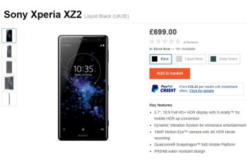 Sony Xperia XZ2 and XZ2 Compact hit the store shelves in Europe
