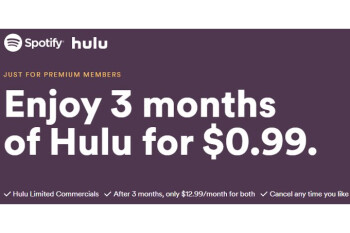 Deal of the day: get Spotify and Hulu at just $12.99 a month for both