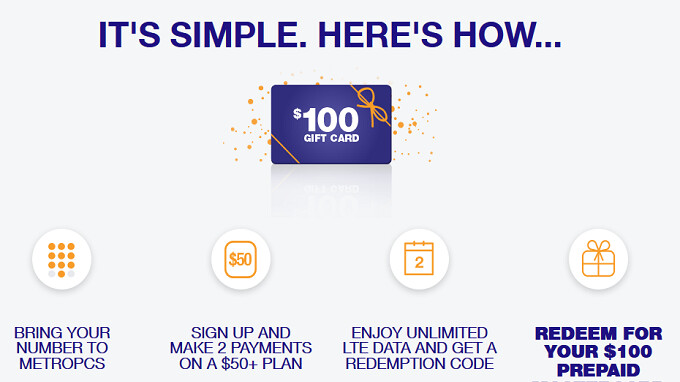 Switch to pre-paid carrier MetroPCS and get 2 free months of