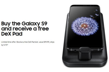Deal: All Samsung Galaxy S9 models now come with a free Dex Pad