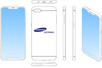 Brace yourselves, Samsung is patenting notch-y handset designs!