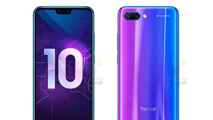 Honor 10 leaked press renders show strong resemblance to the Huawei P20