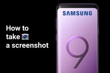 how to take screenshots on a samsung s9