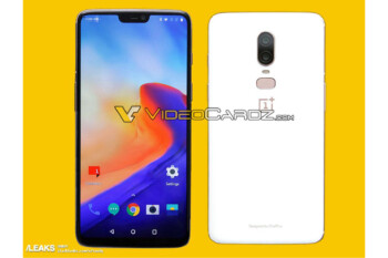 White variant of the OnePlus 6 showcased entirely in new image