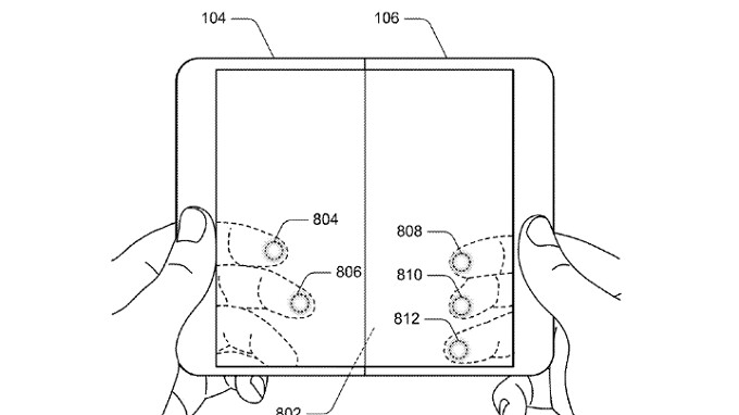 Pair of patent applications from Microsoft deals with its rumored foldable device