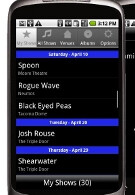 Android owners can track the local music scene with iConcertCal