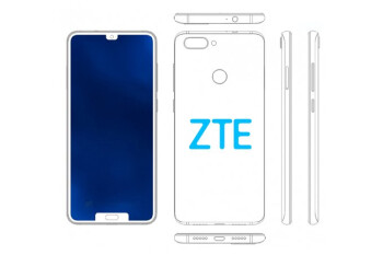 ZTE patents another smartphone with dual notch display design