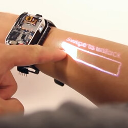 Smartwatch prototype turns your arm into a touchscreen