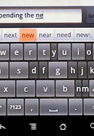 ThickButtons keyboard for Android increases the size of the next likely key press