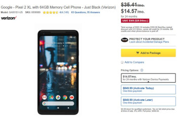 Deal: Save $500 on the Pixel 2 XL at Best Buy (Verizon models only)
