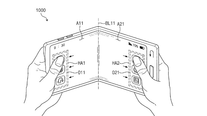 Samsung receives patents for a folding phone and a transparent smartphone display