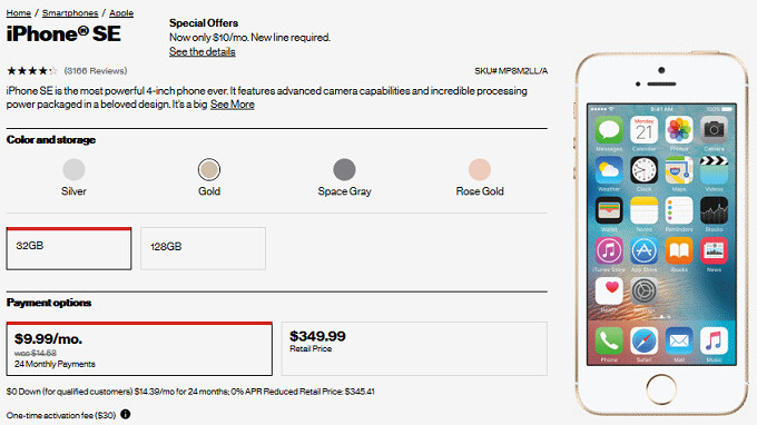 The Apple iPhone SE and the Moto Z2 Play are both $10 a month at Verizon for a limited time