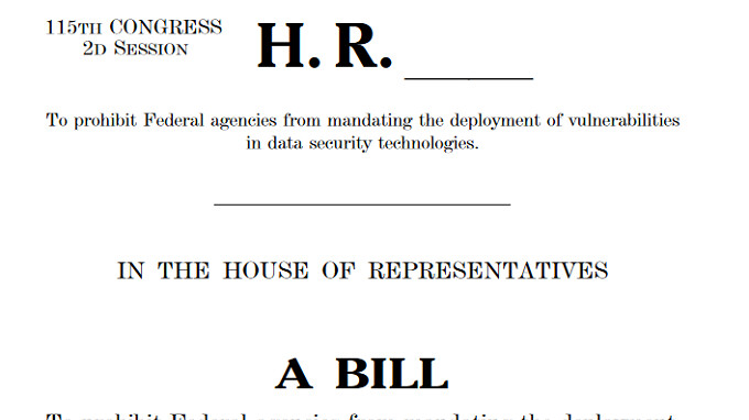 Secure Data Act would protect device manufacturers from having to create a back door