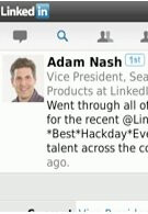 Official LinkedIn app for BlackBerry now available