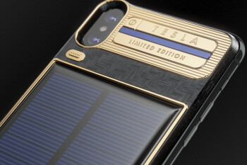 Would you spend $4,500 on an Apple iPhone X with solar panels on back?