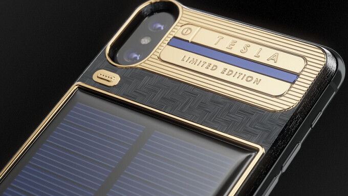 IPhone X Tesla Costs $4600 consists of Self-Charging Solar Panel