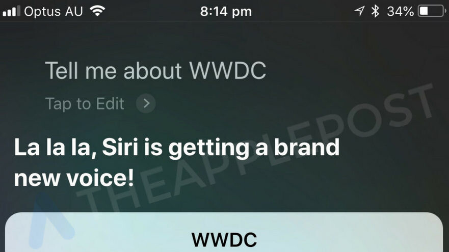 Siri hints that it could score a brand new voice at Apple WWDC '18