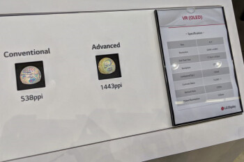 Google and LG Display unveil OLED display for VR headsets with 1,443ppi and 120Hz refresh rate