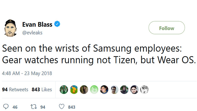 Samsung employees are said to be wearing Wear OS powered Gear smartwatches