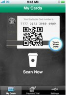 Use your iPhone to make payments at Starbucks branches within Target stores