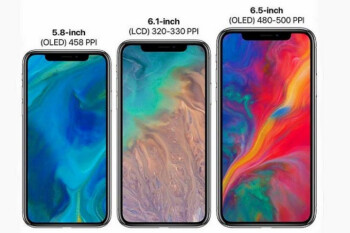 Picture allegedly shows OLED panels for the 6.1-inch low-end Apple iPhone 9