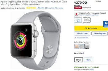 Deal: Apple Watch Series 3 is $50 off at Best Buy (GPS model)