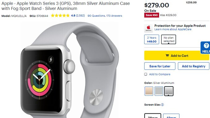 The Apple Watch Series 3 is on sale once again and even if the discount is  not that big compared to the smartwatch  s price 1b69b9d297