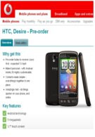 Vodafone UK eyes April 8 as the release date for the HTC Desire