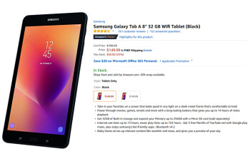 For a limited time only, you can save $50 to $80 on the Samsung Galaxy Tab A (2017) from Amazon