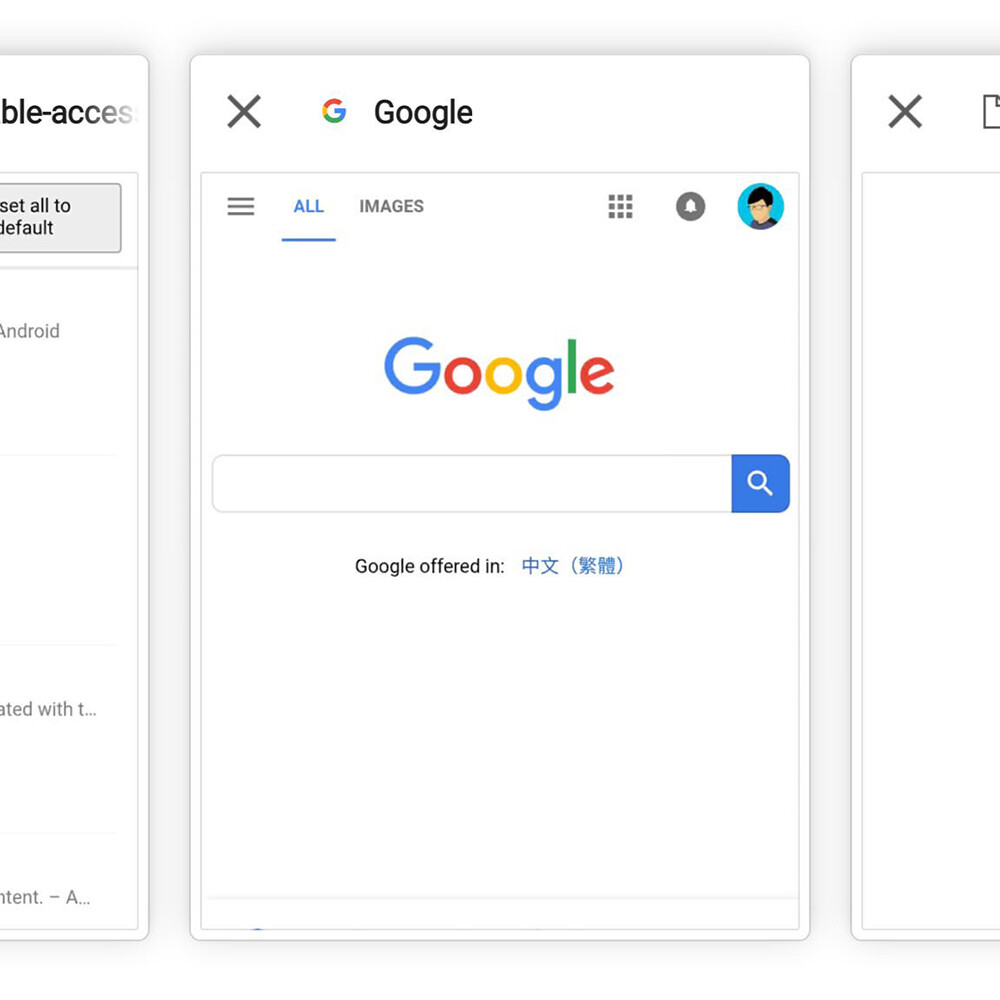 Chrome Canary scores an experimental horizontal tab switcher