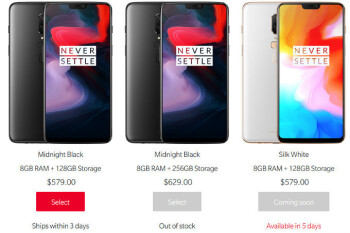 Silk White OnePlus 6 and Bullets wireless earphones prices and release