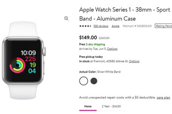 Deal: Apple Watch Series 1 on sale for as low as $149 at Walmart