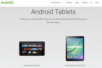 Google removes tablet section from Android website (UPDATE X 2)