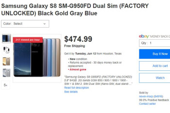 Deal: Unlocked dual-SIM Samsung Galaxy S8 on sale for just $475 in the US
