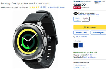 Deal: Save $70 on Samsung Gear Sport smartwatch at Best Buy and Amazon
