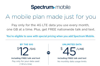 Et tu, Charter, with the $45 unlimited data plan? Spectrum Mobile launching soon...
