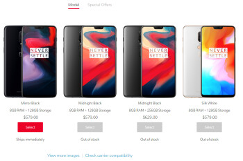 OnePlus 6 in Silk White and the Bullets Wireless earphones are already sold out
