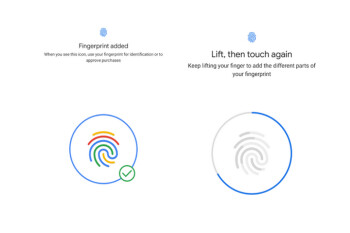 Google believes in the power of color as it tries to convince you to use a fingerprint scanner
