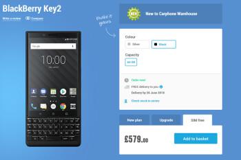 Carphone Warehouse, Selfridges start taking pre-orders for the BlackBerry KEY2