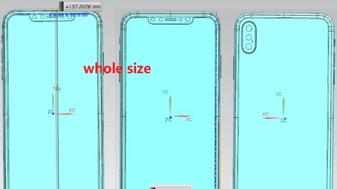 Schematics for the monstrous 6.5-inch Apple iPhone leak