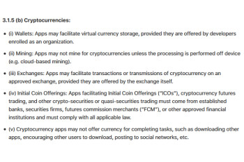 Apple bans cryptocurrency mining apps from the iPhone