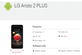 T-Mobile to launch the LG Aristo 2 Plus on June 15
