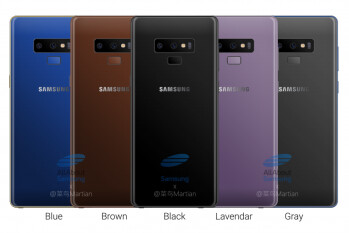 Samsung Galaxy Note 9 colors allegedly revealed: five variants in the works