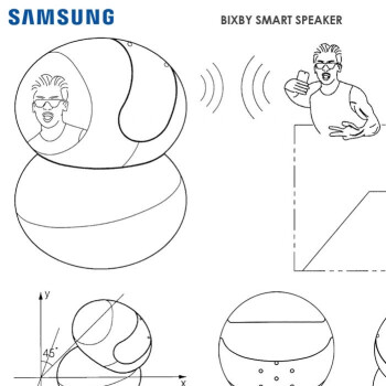 New patent hints at a rotating Samsung Bixby speaker complete with camera and touch display