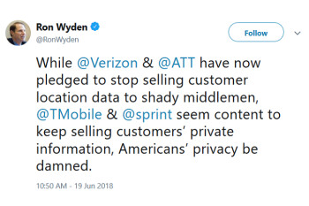 Verizon and AT&T will no longer sell customer location data to third party data brokers