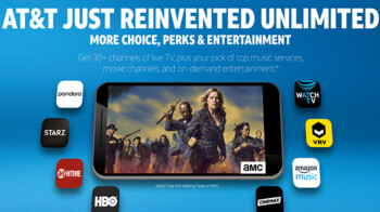 """AT&T's new streaming service """"WatchTV"""" will be free to subscribers of two new unlimited plans"""