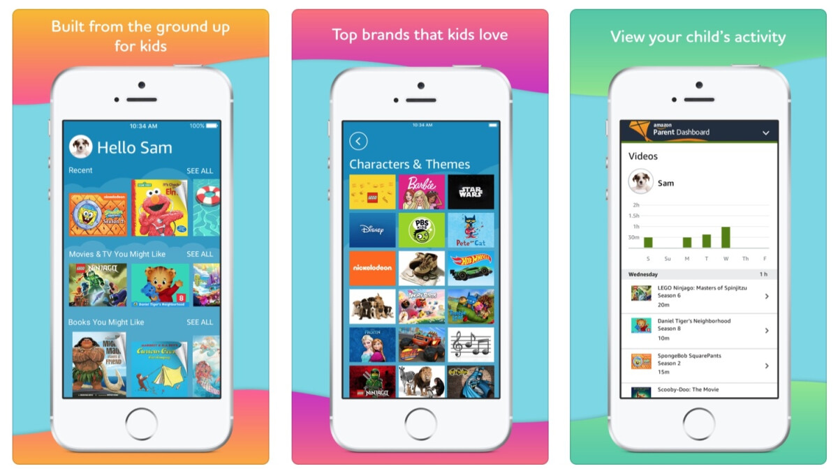 Amazon launches its kid-friendly FreeTime Unlimited app on iOS after five years